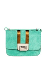 Diego Dolcini Suede And Laminated Leather Shoulder Bag
