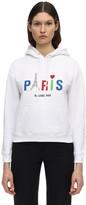 Balenciaga Paris Print Cotton Jersey Hoodie