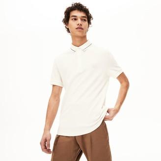 Lacoste Men's Regular Fit Linen-Blend Polo Shirt