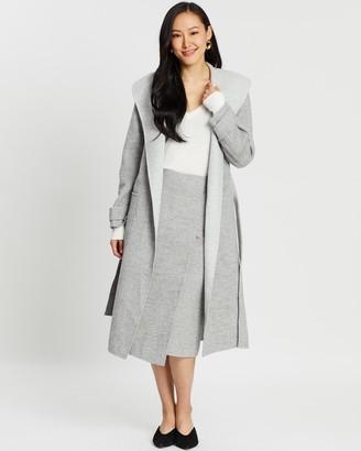 SABA Kayla Wool Long Drape Coat