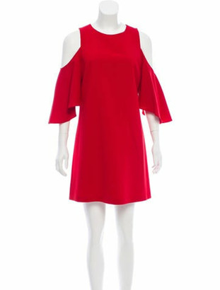 Alice + Olivia Cold Shoulder Shift Dress Red