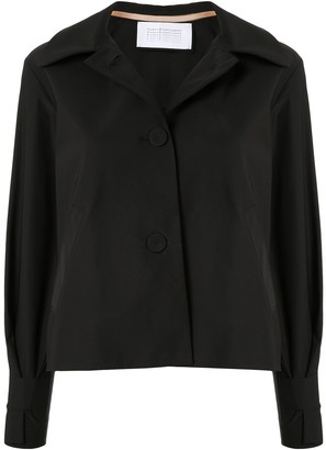 Harris Wharf London cropped A-line jacket