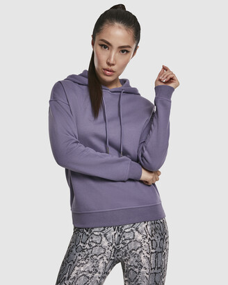 Urban Classics Women's Purple Jumpers - UC Ladies Casual Sweat Hoody - Size One Size, M at The Iconic