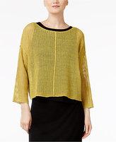 Eileen Fisher Organic Linen Boxy Top, Regular & Petite