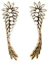 Balenciaga Twisted Bay Leaf Earrings