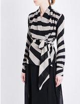 Gareth Pugh Striped silk-chiffon shirt