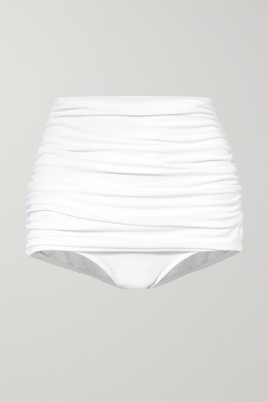 Thumbnail for your product : Norma Kamali Bill Ruched Bikini Briefs - White