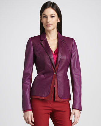 Elie Tahari Tallen Leather Jacket