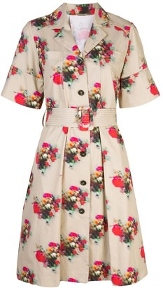 Adam Lippes Floral Print Belted Dress