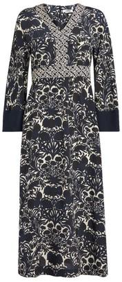 Max Mara Silk Cicladi Midi Dress