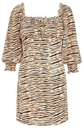 Faithfull The Brand Ira Tiger-Print Mini Dress