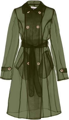 Apparis Oliva Organza Sheer Trench Coat