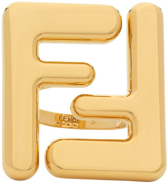 Fendi Gold Forever Maxi Logo Ring