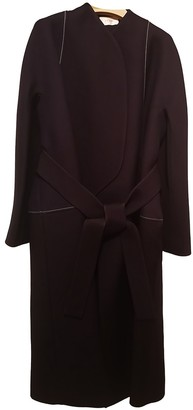The Row Navy Silk Coat for Women