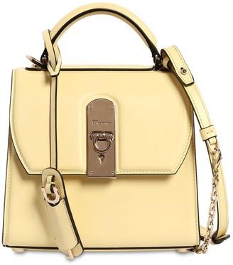 Salvatore Ferragamo Small Boxy Leather Shoulder Bag