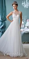 Mon Cheri Enchanting Lace Applique A-line Wedding Gown