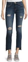 Current/Elliott Uneven Cut Distressed Skinny Jeans, Medium Blue