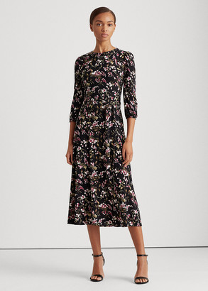 Ralph Lauren Floral Balloon-Sleeve Dress