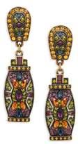 Heidi Daus Crystal Patch Drop Earrings