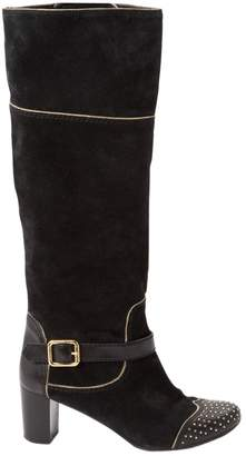 Marc by Marc Jacobs Black Suede Boots