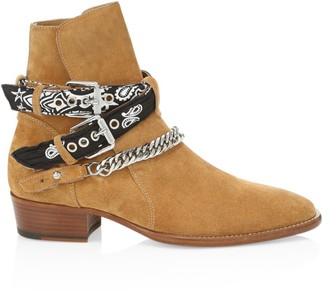 Amiri Bandana Buckle Leather Boot