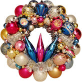 One Kings Lane Vintage Pink, Gold & Silver Ornament Wreath