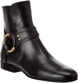 Chloé Demi Buckle Leather Bootie