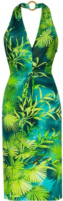 Versace Jungle signature print halterneck dress