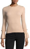 Jonathan Simkhai Perforated Knit Crewneck Sweater