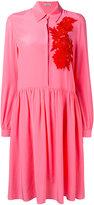 P.A.R.O.S.H. floral patch shirt dress - women - Silk/Cotton/Polyester - XS