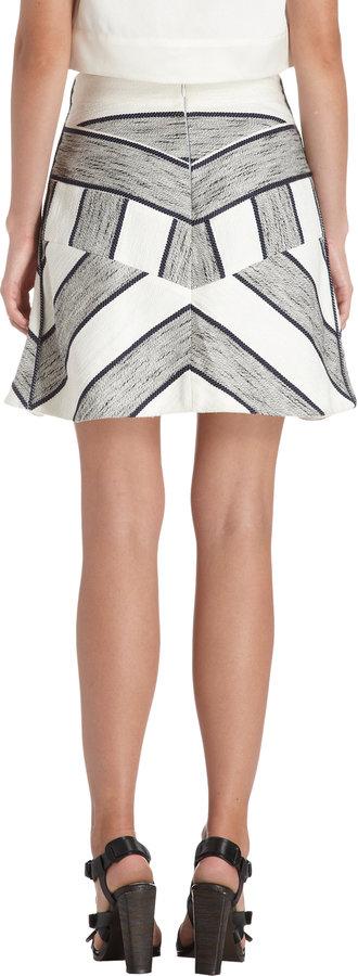 3.1 Phillip Lim Melange Striped Knit Panels Skirt