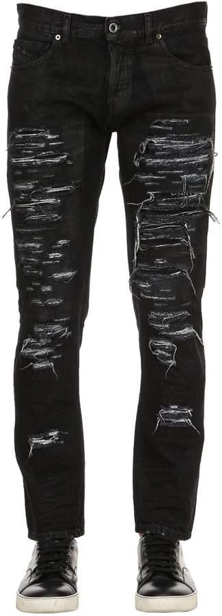 Diesel Black Gold 17cm Slim Fit Ripped Denim Jeans