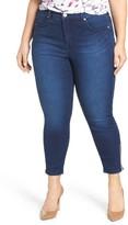Melissa McCarthy Plus Size Women's Zip Ankle Skinny Jeans