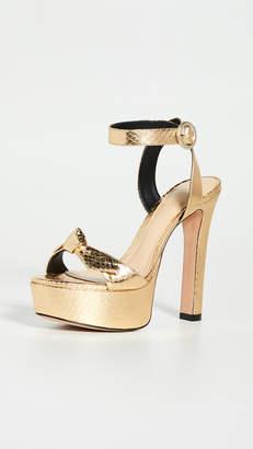 Alexandre Birman Clarita Evening Plateau Exotic Sandals