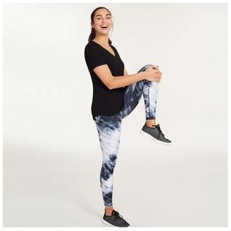 Joe Fresh Women's V-Neck Active Tee, JF Black (Size S)