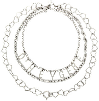 D'heygere Dheygere Silver Logo Chain Necklace