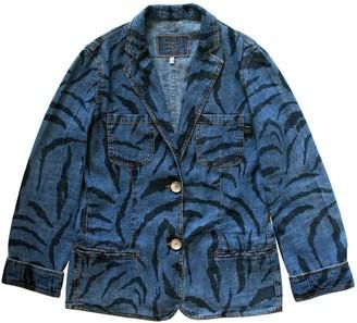 Krizia Blue Linen Jacket for Women Vintage