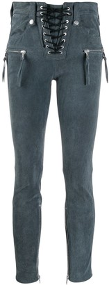 Unravel ombre-effect skinny trousers