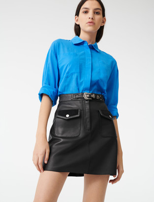 Maje Leather Western skirt