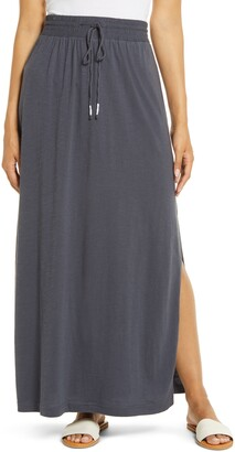 Caslon Drawstring Knit Maxi Skirt