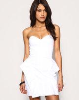 ASOS Exaggerated Peplum Bandeau Dress