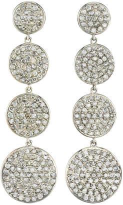 Sheryl Lowe Pave Diamond Dangle Earrings