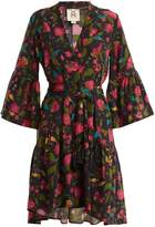 Figue Caroline floral-print silk wrap dress