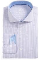 Bugatchi Men's Trim Fit Check Dress Shirt