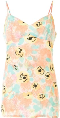 Chanel Pre Owned 1997 Floral Camisole