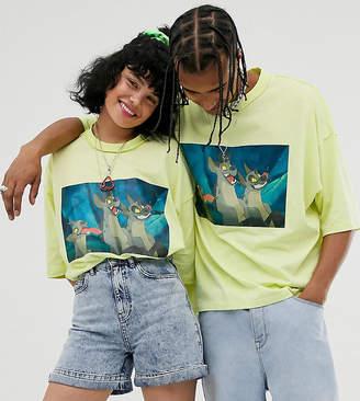 Asos Design Disney The Lion King x DESIGN unisex oversized t-shirt with hyena print-Green