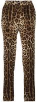 Dolce & Gabbana leopard print pyjama style pants - women - Silk - 38