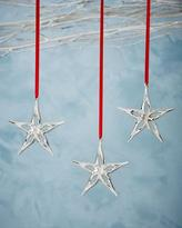 Nambe Mini Star Christmas Ornaments, Set of 3