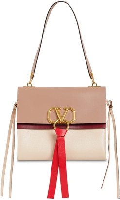 Valentino Medium V Ring Box Leather Shoulder Bag