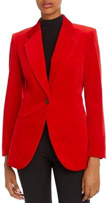 Theory Velvet Single-Button Blazer